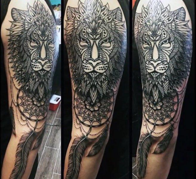 Татуировка ловец снов лев