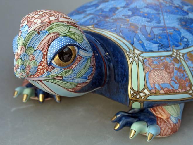 Черепаха из керамики