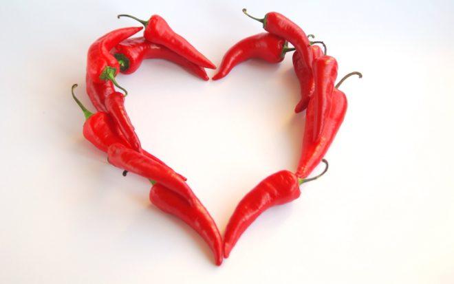 Сердце из перцев