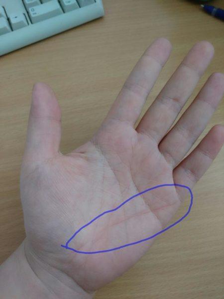 знак интуиции на руке фото была красивом