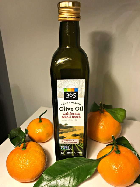 мандарины и оливковое масло